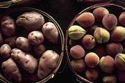 Bushel Photos - Potatoes And Peaches by Granger
