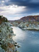 Great Falls Park Posters - Potomac River from Great Falls Park Virginia Poster by Brendan Reals