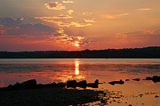 Greeting Card Photos - Potomac River Sunrise I  by Steven Ainsworth