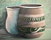Pottery Paintings - Pots of Clay by Trese Judd