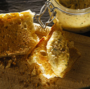 Toast Prints - Potted Craster Crab And Kipper Pate On Toast Print by Duncan Davis