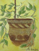 Potted Plant Paintings - Potted Ivy by Bonnie Wright