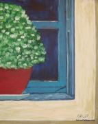 Potted Plant Paintings - Potted Plant by Calliope Thomas