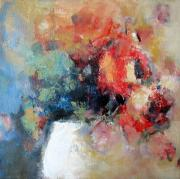 Rose Paintings - Potted Roses 1 by Sharleen Boaden