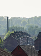 Chimneys Prints - Potteries Urban landscape Print by Andrew  Michael