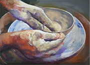 Potters Hands Prints - Potters Hands Print by Gail Palpant