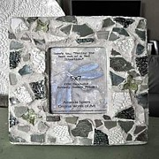 Handcrafted Ceramics - Pottery Mosaic Frame by Amanda  Sanford