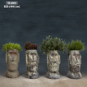 Canvas Ceramics - Pottery Planter by Thien Phu Fine Arts