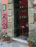 Pottery Paintings - Pottery Shop by Patti Siehien