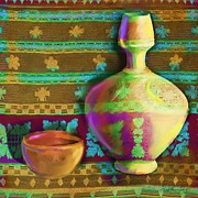 Pottery Paintings - Pottery Suraie by Seema Sayyidah