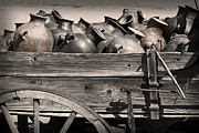 Jugs Prints - Pottery Wagon Print by Tim Hightower