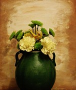 Carnations Photos - PotteryOf Flowers by Marsha Heiken