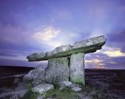Portal Tombs Prints - Poulnabrone Dolmen, The Burren, Co Print by The Irish Image Collection