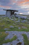 County Clare Framed Prints - Poulnabrone Grave Site In The Burren Framed Print by Trish Punch
