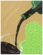 Wine Pour Painting Framed Prints - Pour a Glass Framed Print by Starla Peterson