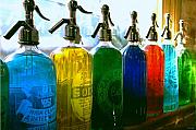 Bottles Metal Prints - Pour Me a Rainbow Metal Print by Holly Kempe