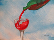 Wine Bottle Paintings - Pour me some Wine by Tyler Martin