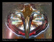 Pour Digital Art Posters - Pouring into NOLAs Heart  Poster by Beverly Kimble Davis