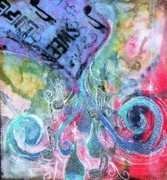 Pour Mixed Media Prints - Pouring Out the Music Print by Yolanda Nussdorfer