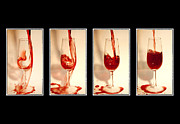 Wine Glasses Posters - Pouring red wine Poster by Svetlana Sewell