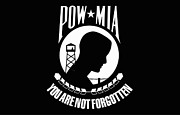 Black Background Digital Art - Pow-mia Flag by Stocktrek Images