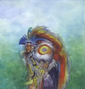 Chief Paintings - Pow Wow Dancer by Robert Casilla