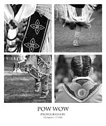 Fringes Posters - Pow Wow Montage Poster by Gordon Wood