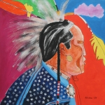 Wow Paintings - Pow Wow by Mordecai Colodner