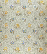 William Morris Tapestries - Textiles Prints - Powdered Print by Wiliam Morris
