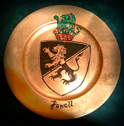 Family Coat Of Arms Art - Powell Charger by Nancy Rutland