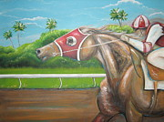 Blinkers Paintings - Power and Grace by Patrice Torrillo