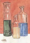 Liquid Painting Prints - Power Failure Prescriptions Print by Ken Powers