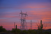 Arid Photos - Power Lines in the Desert by Dave & Les Jacobs