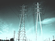 Lines Framed Prints - Power lines Framed Print by Jay Reed