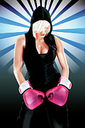 Boxing  Digital Art Framed Prints - Power of silence Framed Print by Brian Gibbs