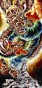 Dragon Framed Prints - Power of Spirit Framed Print by Hiroko Sakai