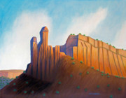 Abiquiu Paintings - Power of the Land by Brian  Commerford