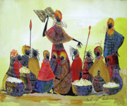 Maasai Painting Originals - Power of the word by Martin Bulinya