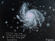 Astronomy Paintings - Power of Thought by Piercarla Garusi
