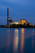 Reflective Framed Prints - Power Plant Framed Print by Adam Romanowicz