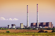 Fuel Prints - Power Plant Print by Carlos Caetano