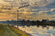 Vapor Framed Prints - Power Plant Framed Print by Gert Lavsen