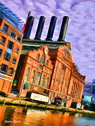 Federal Hill Posters - Power Plant Poster by Stephen Younts