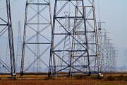 Gas Tower Prints - Power Transmission Towers . 7D8802 Print by Wingsdomain Art and Photography