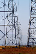 Gas Tower Prints - Power Transmission Towers . 7D8804 Print by Wingsdomain Art and Photography