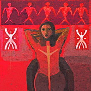 Red Woman Prints - Power Print by Yulonda Rios