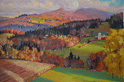 Vermont Autumn Originals - Pownel Vermont by Len Stomski