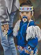 Dancer Pastels Originals - PowWow Dancer by Kym Nippes