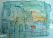 Po-po Paintings - Pozega cityscape by Snjezana Mekic Delic