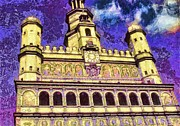 Hall Mixed Media - Poznan City Hall by Mo T